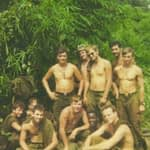 Dale Harbitz kneeling in center, 3rd Platoon, 1st Cavelry, Boys of Summer 1969